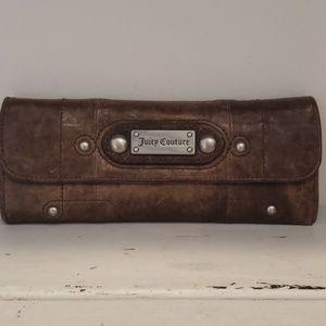 Juicy Couture brown distressed leather wallet